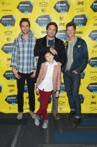 Vincent Ventresca with Jeremy Sisto, David Walton, and Joshua Rush at 2014 SXSW.